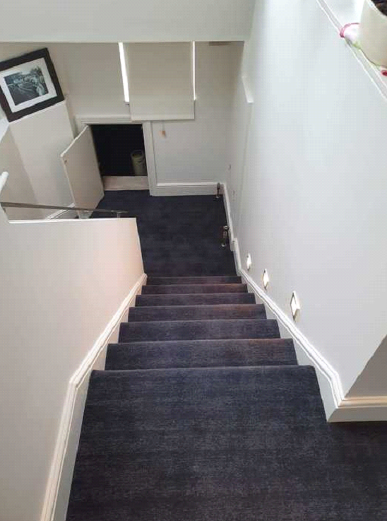 Dark carpet installed to premises in Barnes 3