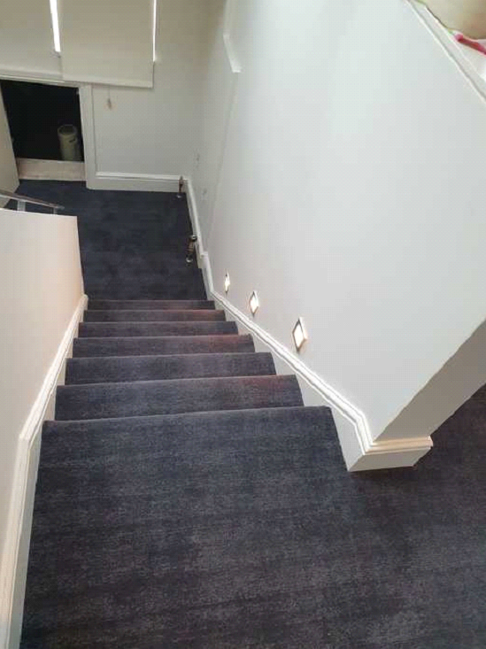 Dark carpet installed to premises in Barnes 4