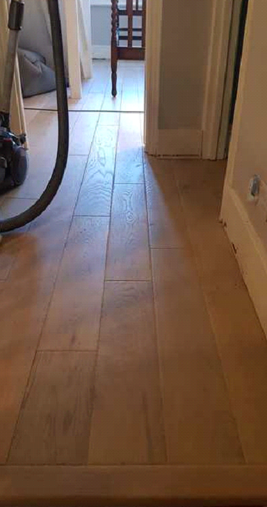 Staki Wood Flooring in Chestnut Colour in Wimbledon 4