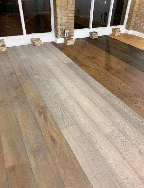 Staki wood floors installed to own Islington Flooring showroom 2