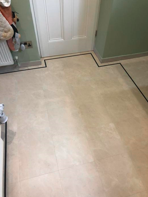 Amtico Luxury Vinyl Tile Flooring Installed in Wimbledon 1