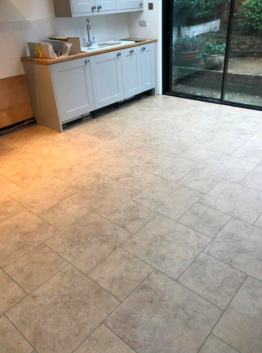 Amtico Signature Kura Caraway Luxury Vinyl Tile Flooring Installed in Islington 1