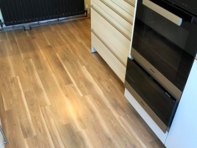 Amtico Spacia Canopy Oak Luxury Vinyl Tile Flooring Installed in Wandsworth
