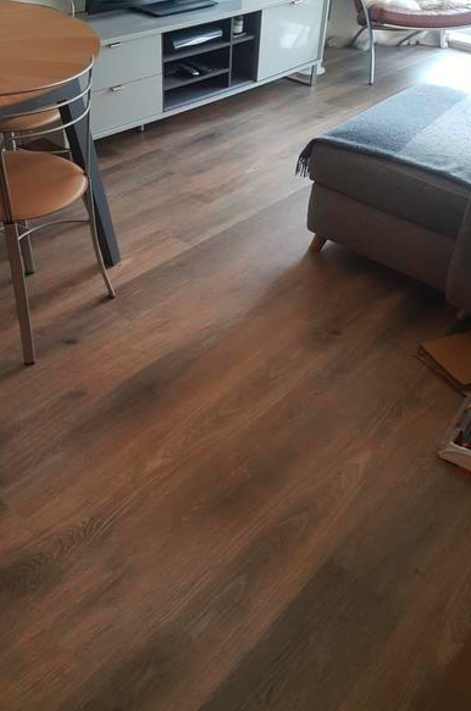 Install Amtico Spacia Hampton Oak Luxury Vinyl Tile Flooring Installed 1