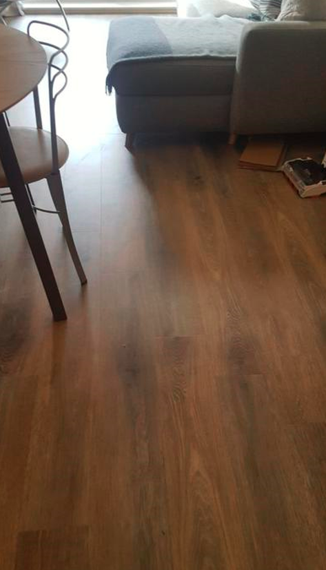Install Amtico Spacia Hampton Oak Luxury Vinyl Tile Flooring Installed 2