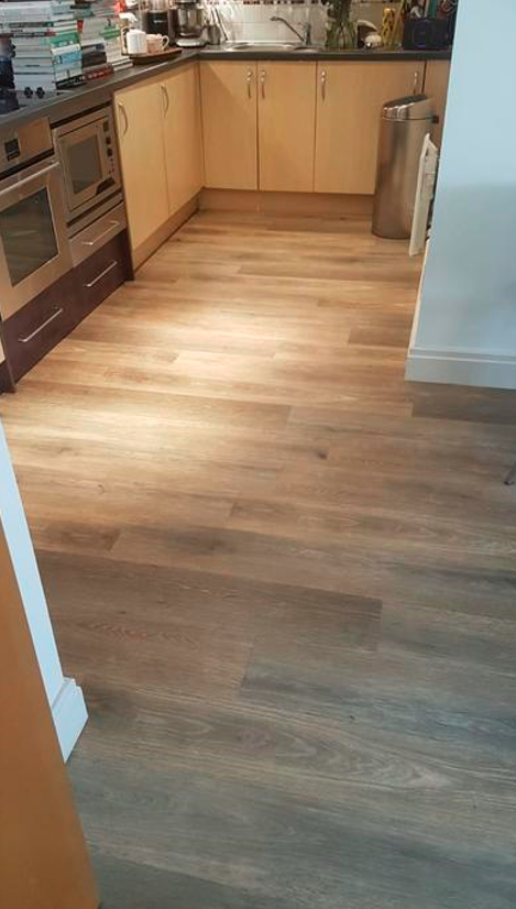 Install Amtico Spacia Hampton Oak Luxury Vinyl Tile Flooring Installed 3
