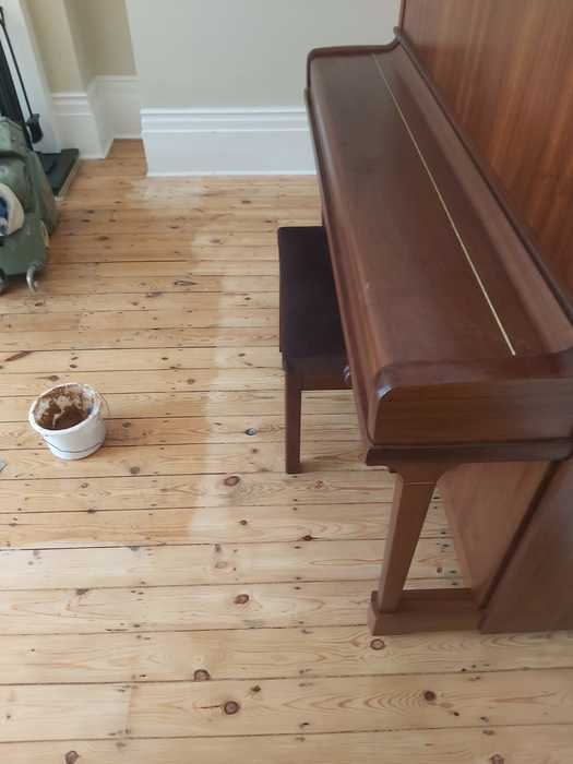 Sand and Seal Selected Areas of Wood Flooring Installed in Barnes 1