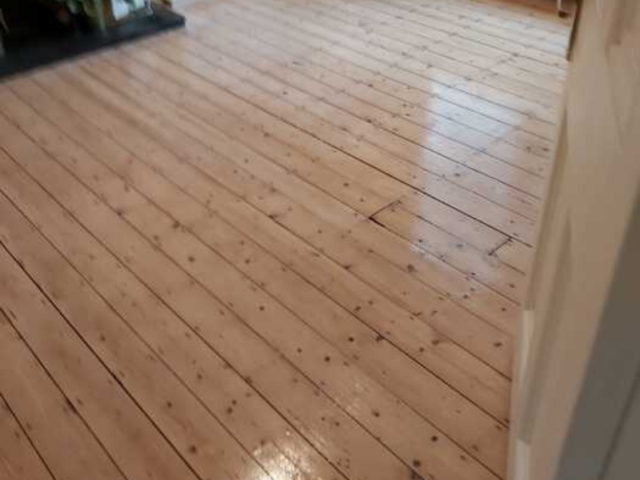 Sand and Seal Selected Areas of Wood Flooring Installed in Barnes