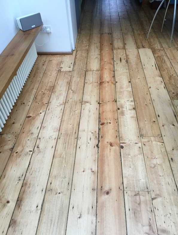 Sand and Seal Selected Wood Floor Installed in Islington 1