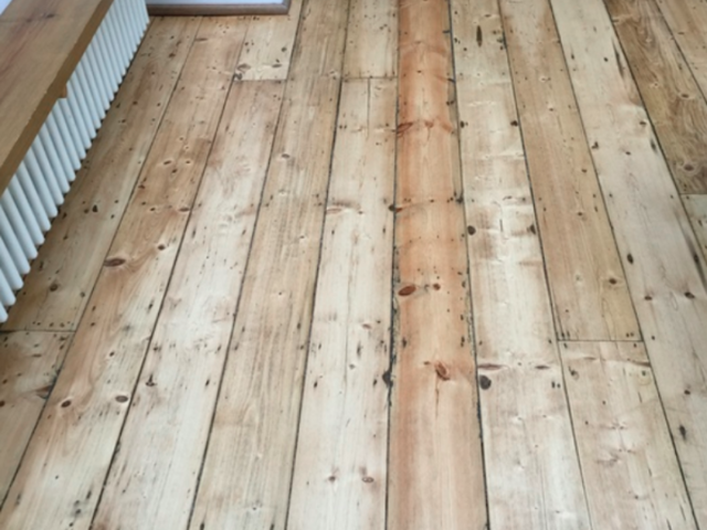 Sand and Seal Selected Wood Floor Installed in Islington
