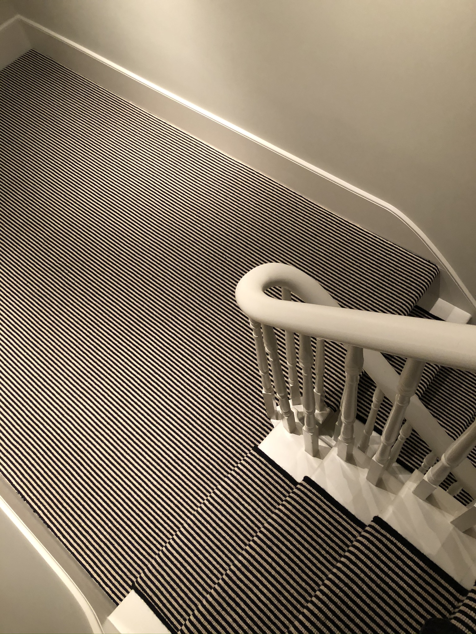 Hugh Mackay Carpets Deco Loop Two-Tone Magpie Black & White Stripe Carpet to Premises in Richmond 3