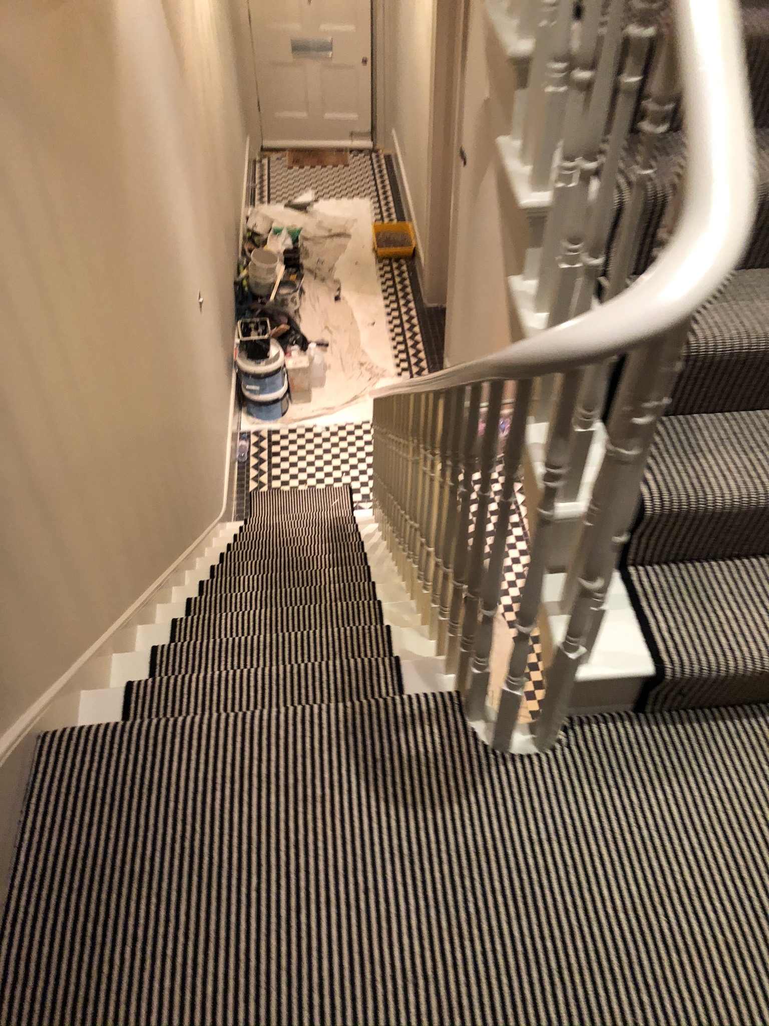 Hugh Mackay Carpets Deco Loop Two-Tone Magpie Black & White Stripe Carpet to Premises in Richmond 4