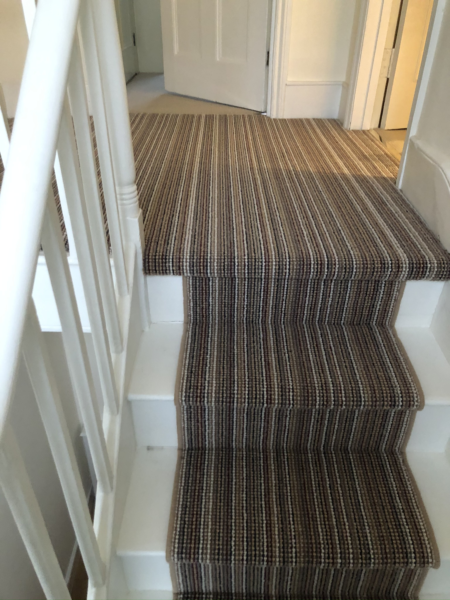 Multicolour Stripe Carpet Installation in Islington 2
