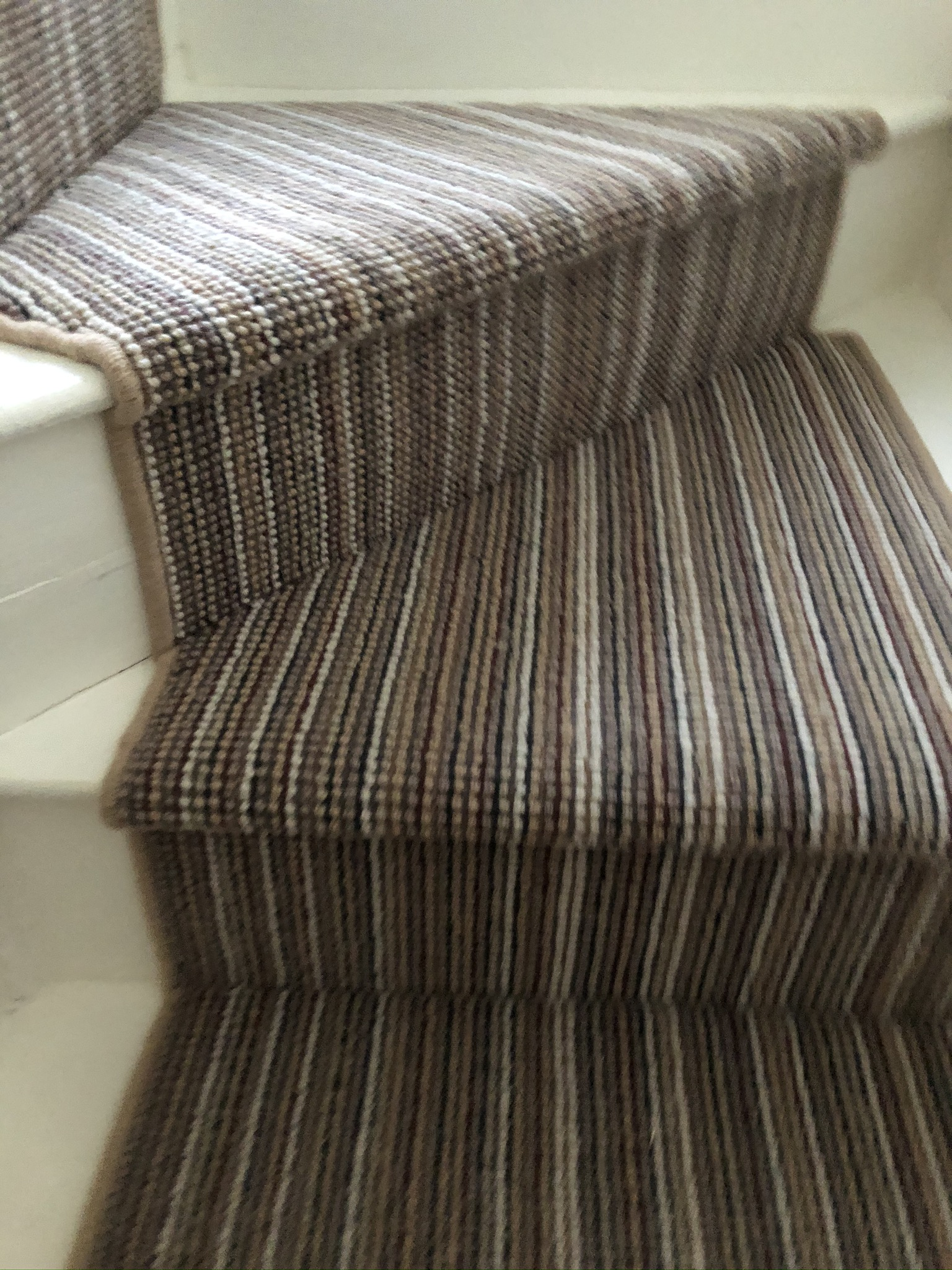 Multicolour Stripe Carpet Installation in Islington 3