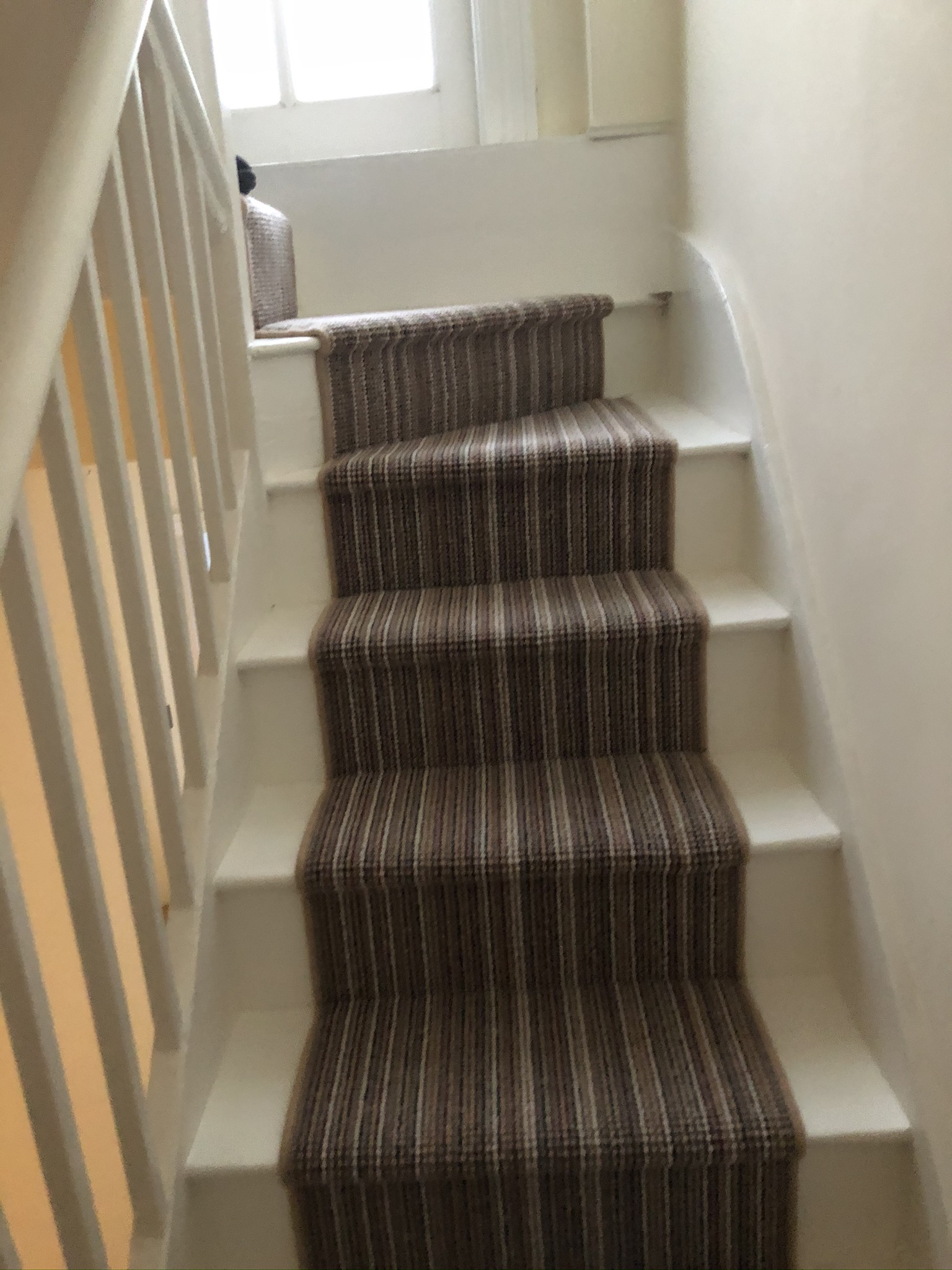 Multicolour Stripe Carpet Installation in Islington 4