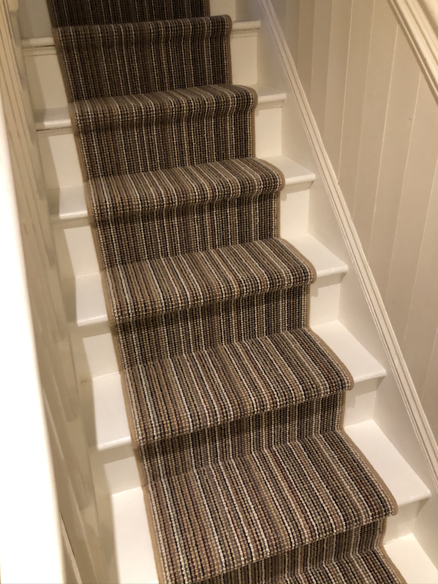 Multicolour Stripe Carpet Installation in Islington 5