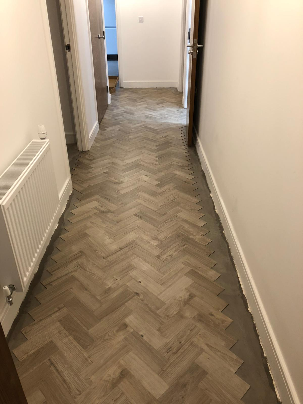 To supply & install Amtico Spacia Sun Bleached Oak luxury vinyl flooring in Kilburn 5