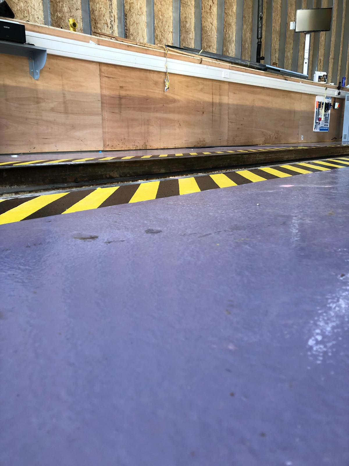 Vanguard Contracts to carry out the refurbishment of a 1200m2 Multi brand workshop floor at F G Barnes Guildford 8