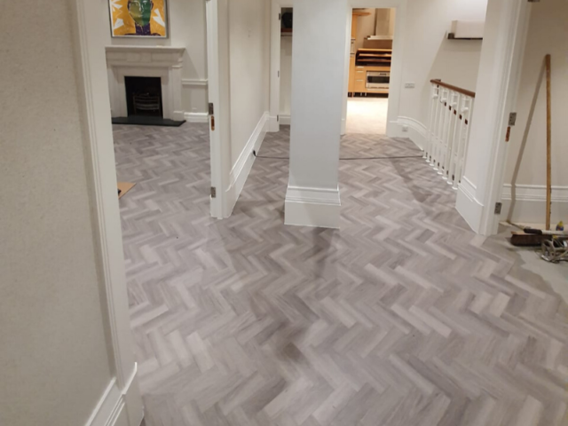 Amtico Spacia Nordic Oak in Herringbone Design to Premises