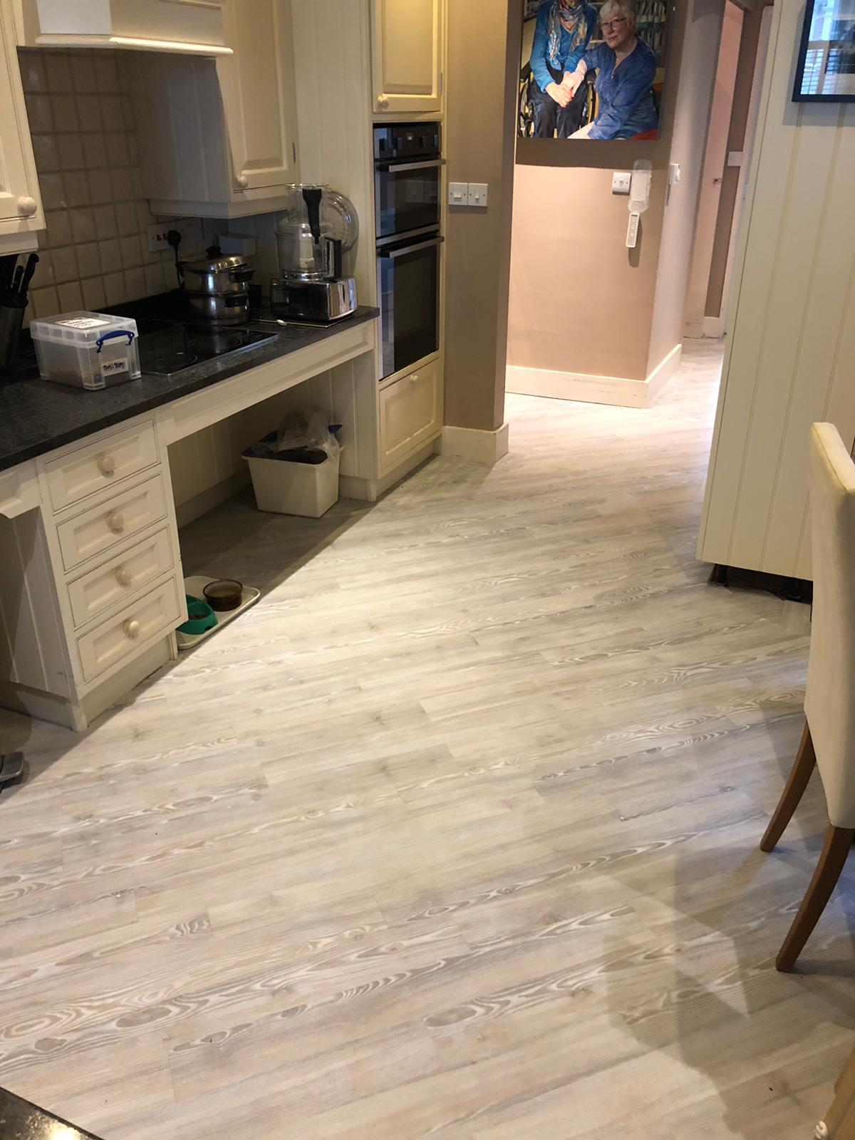 Brief: To supply & install Amtico Signature Lime Washed Wood Luxury Vinyl Tile 1