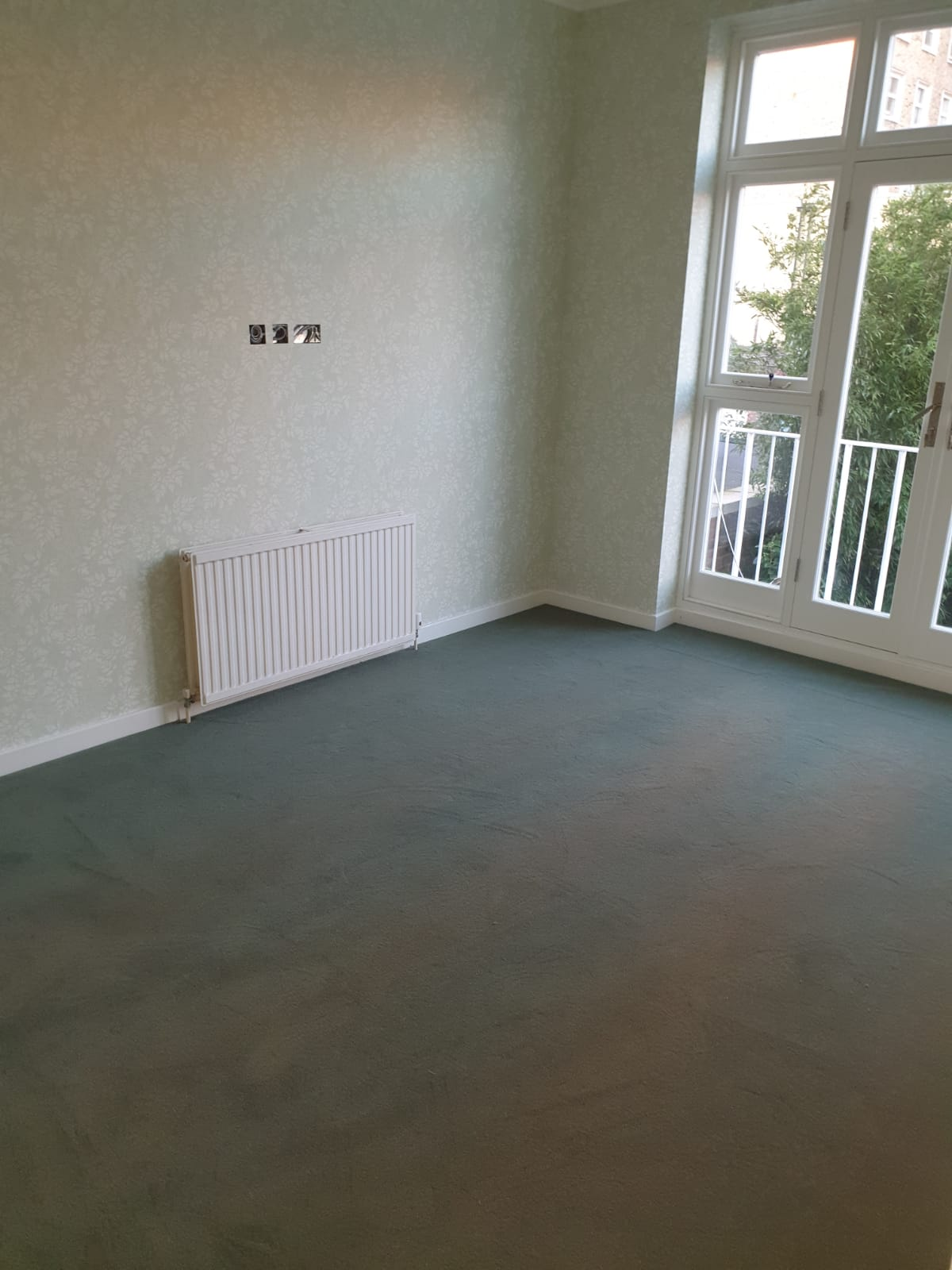 To supply & install grey carpet to room 2