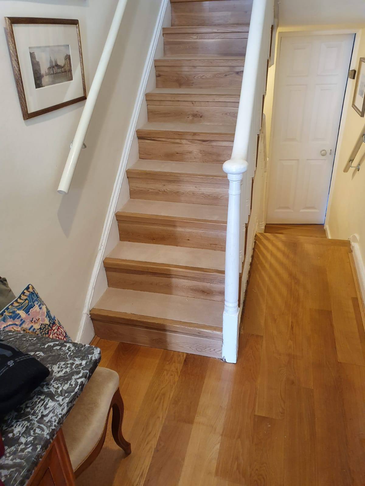 Carpet to Treads on Stairs 3