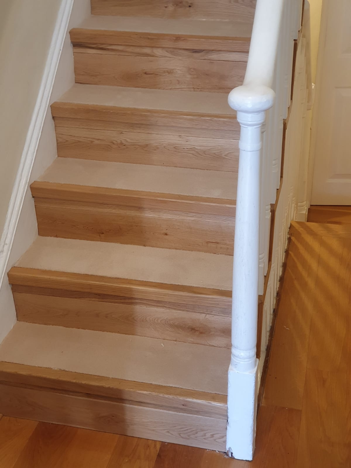 Carpet to Treads on Stairs 1