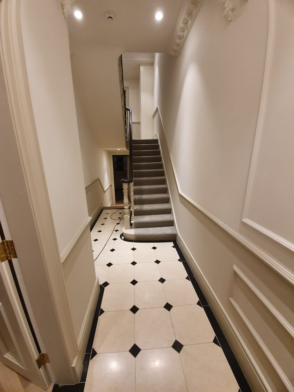 Grey Velvet Carpet to Stairs 3