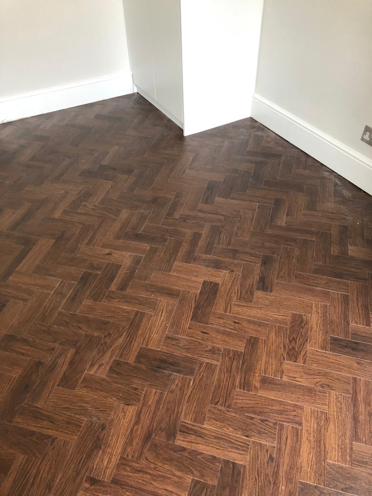 Amtico Black Walnut Luxury Vinyl Tile in Wood Design 1