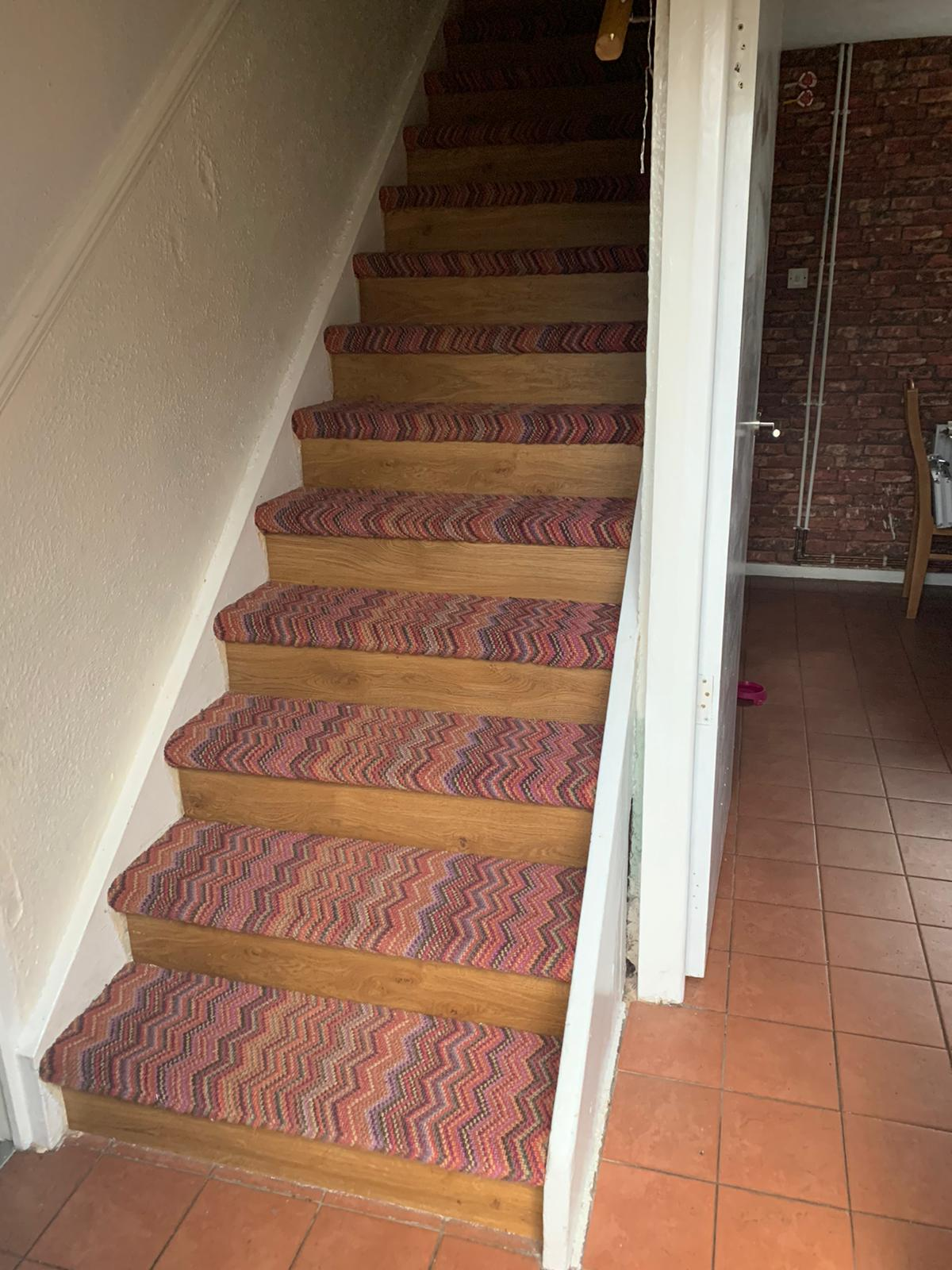 Crucial Trading Fabulous Carpet to Treads on Stairs 1