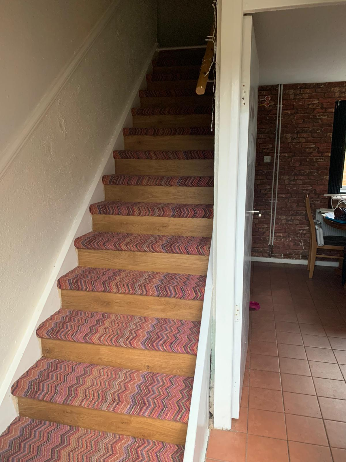 Crucial Trading Fabulous Carpet to Treads on Stairs 2