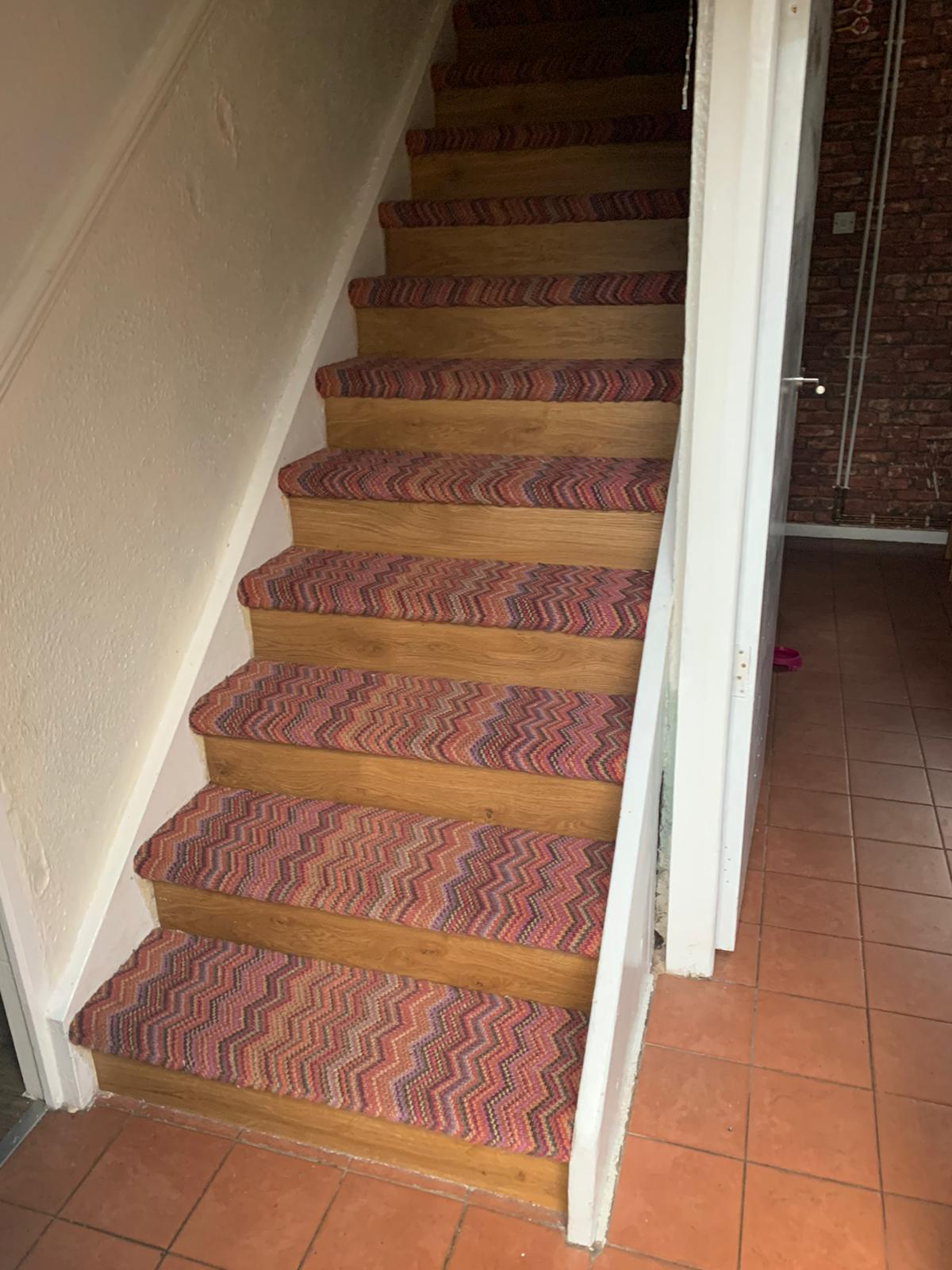 Crucial Trading Fabulous Carpet to Treads on Stairs 3