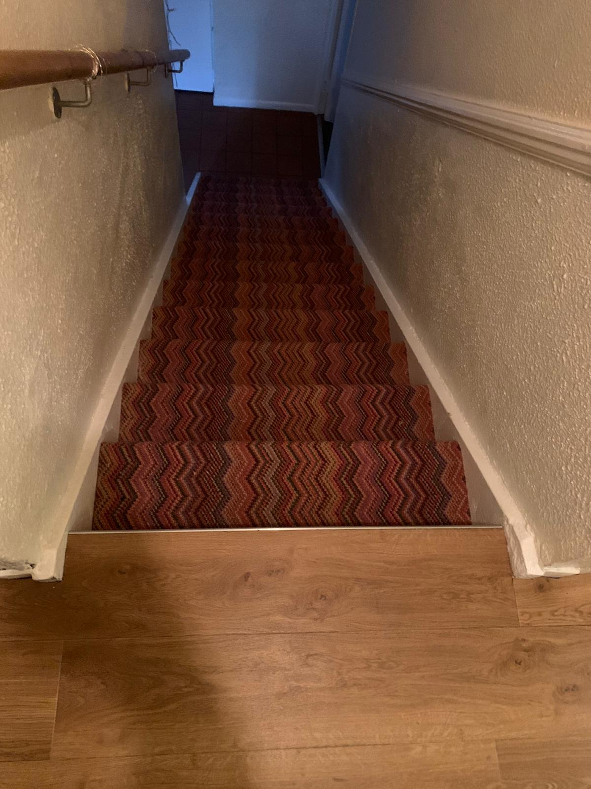 Crucial Trading Fabulous Carpet to Treads on Stairs 4