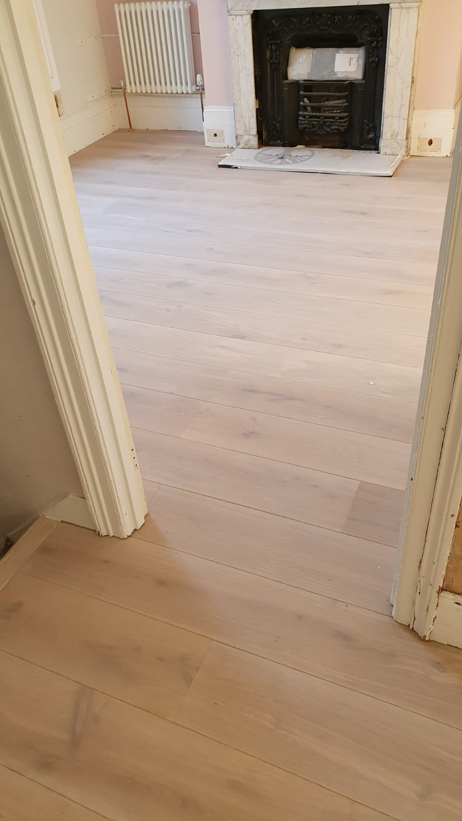 Staki Brushed & White Oil Wood Flooring 1