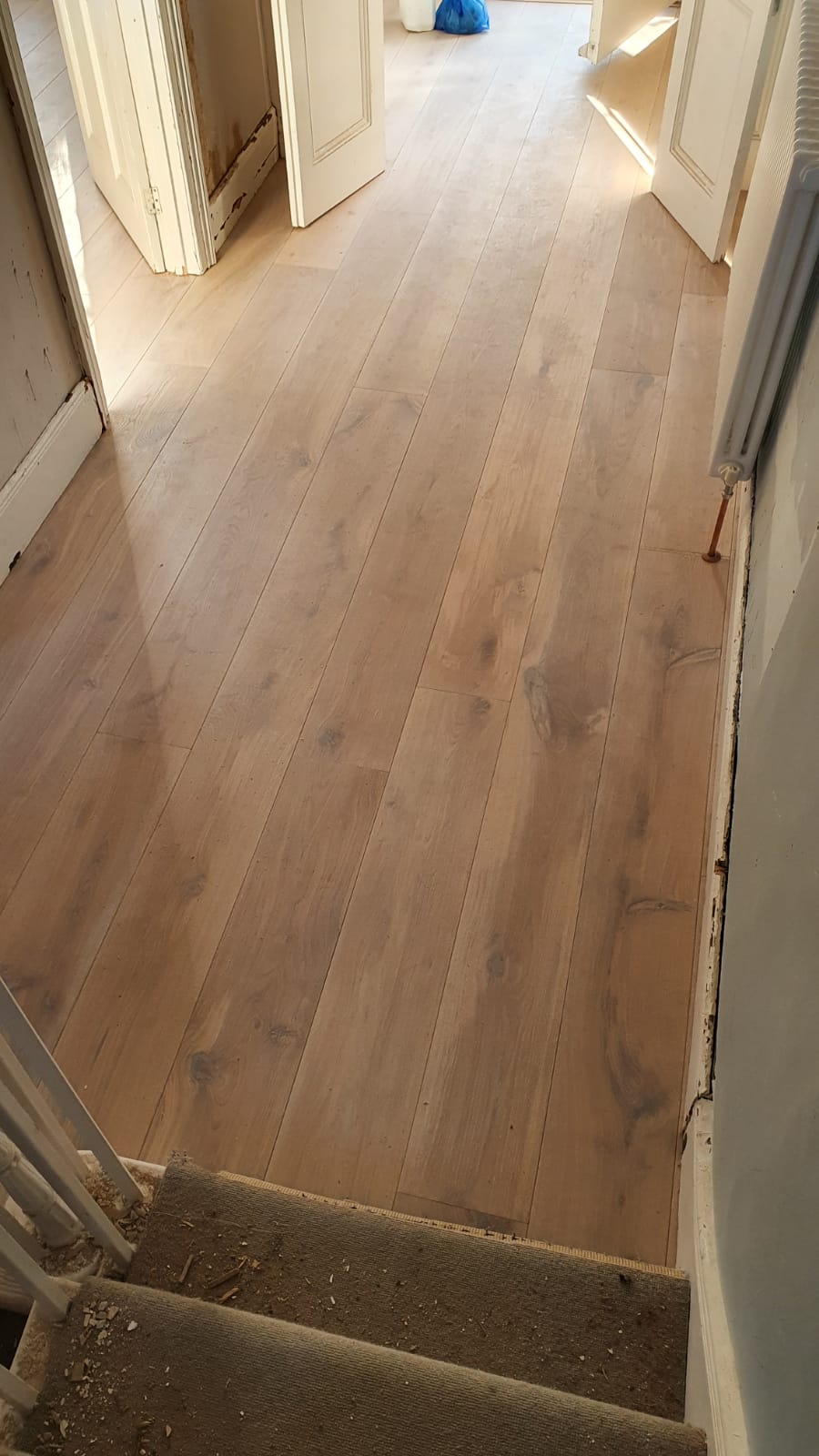 Staki Brushed & White Oil Wood Flooring 3