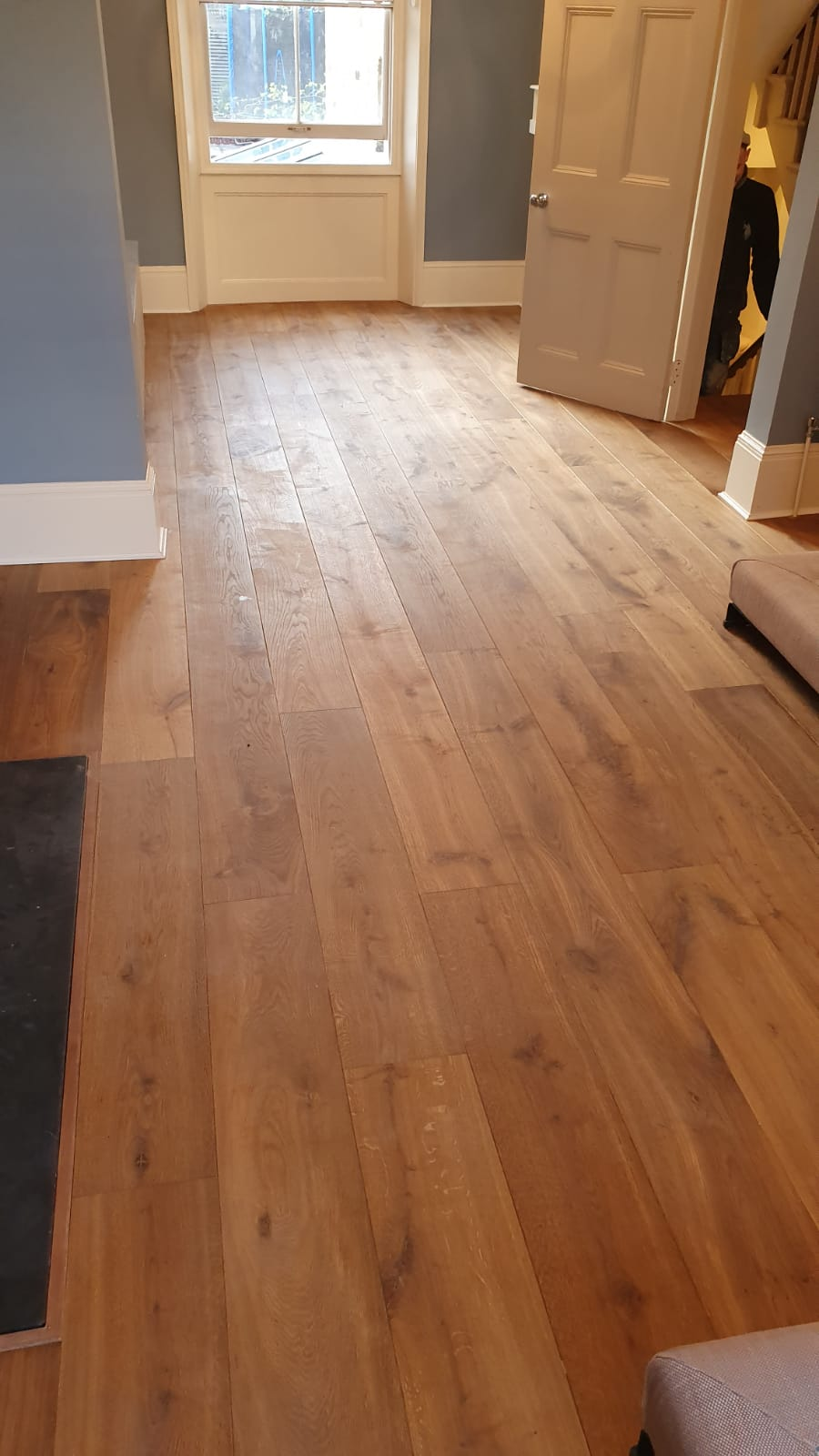 Staki Smoked & Oiled Wood Flooring Installation 1