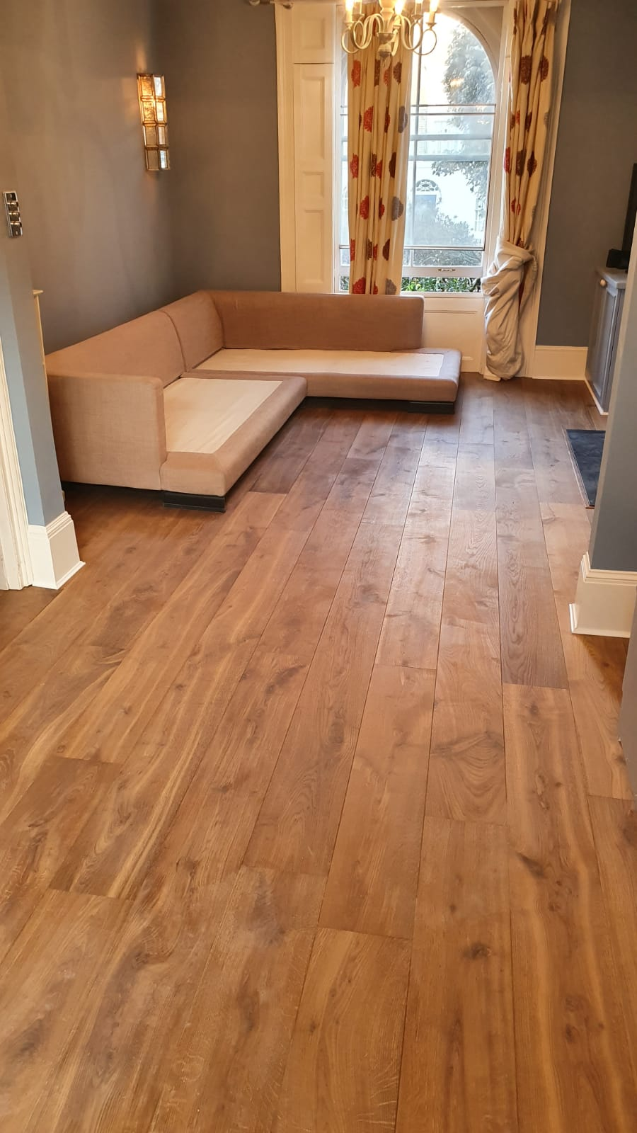 Staki Smoked & Oiled Wood Flooring Installation 2