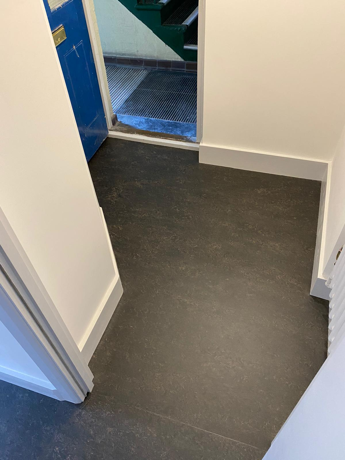 Marmoleum Dark Bistre Flooring In Islington 1