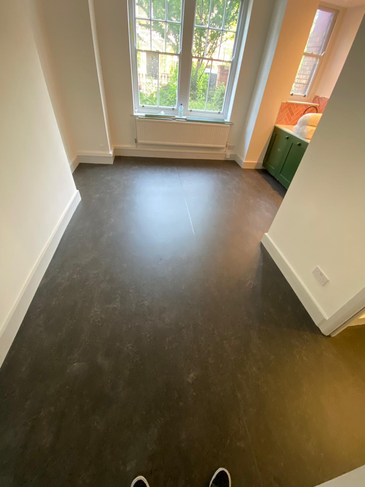 Marmoleum Dark Bistre Flooring In Islington 2
