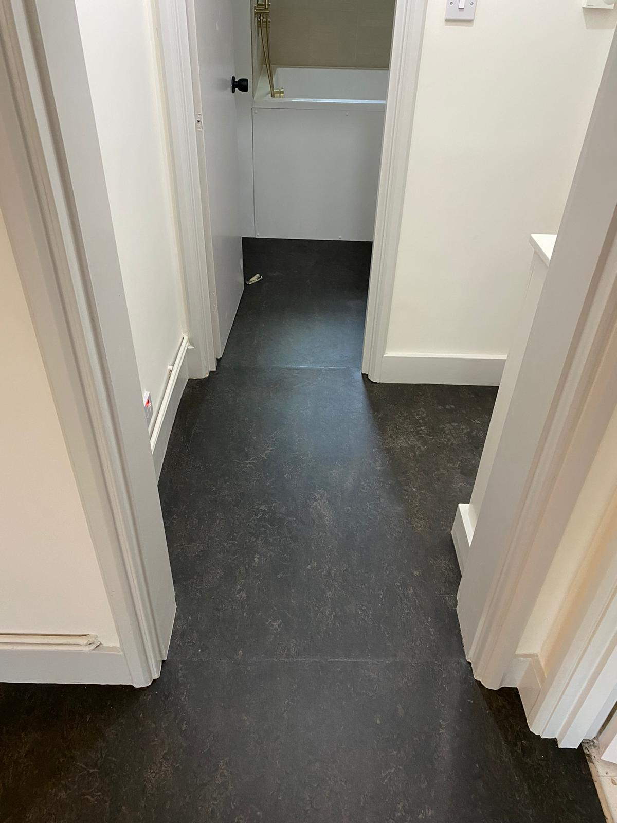 Marmoleum Dark Bistre Flooring In Islington 4