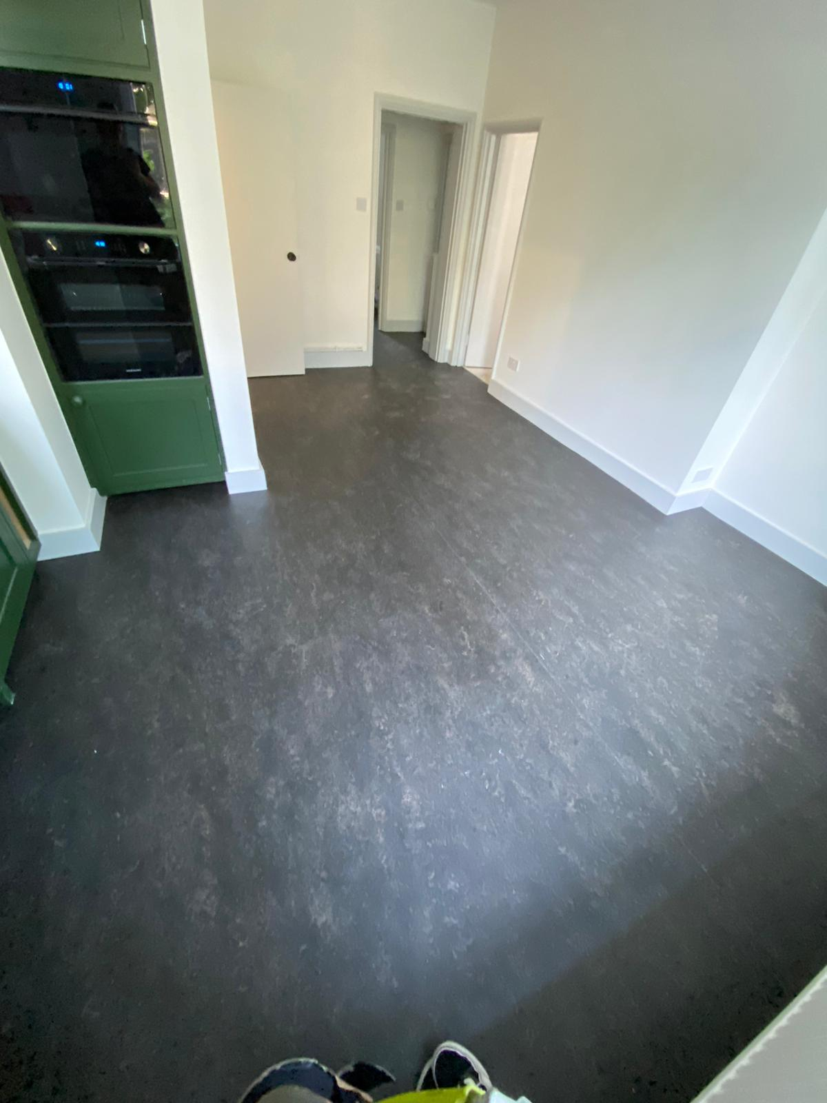 Marmoleum Dark Bistre Flooring In Islington 5