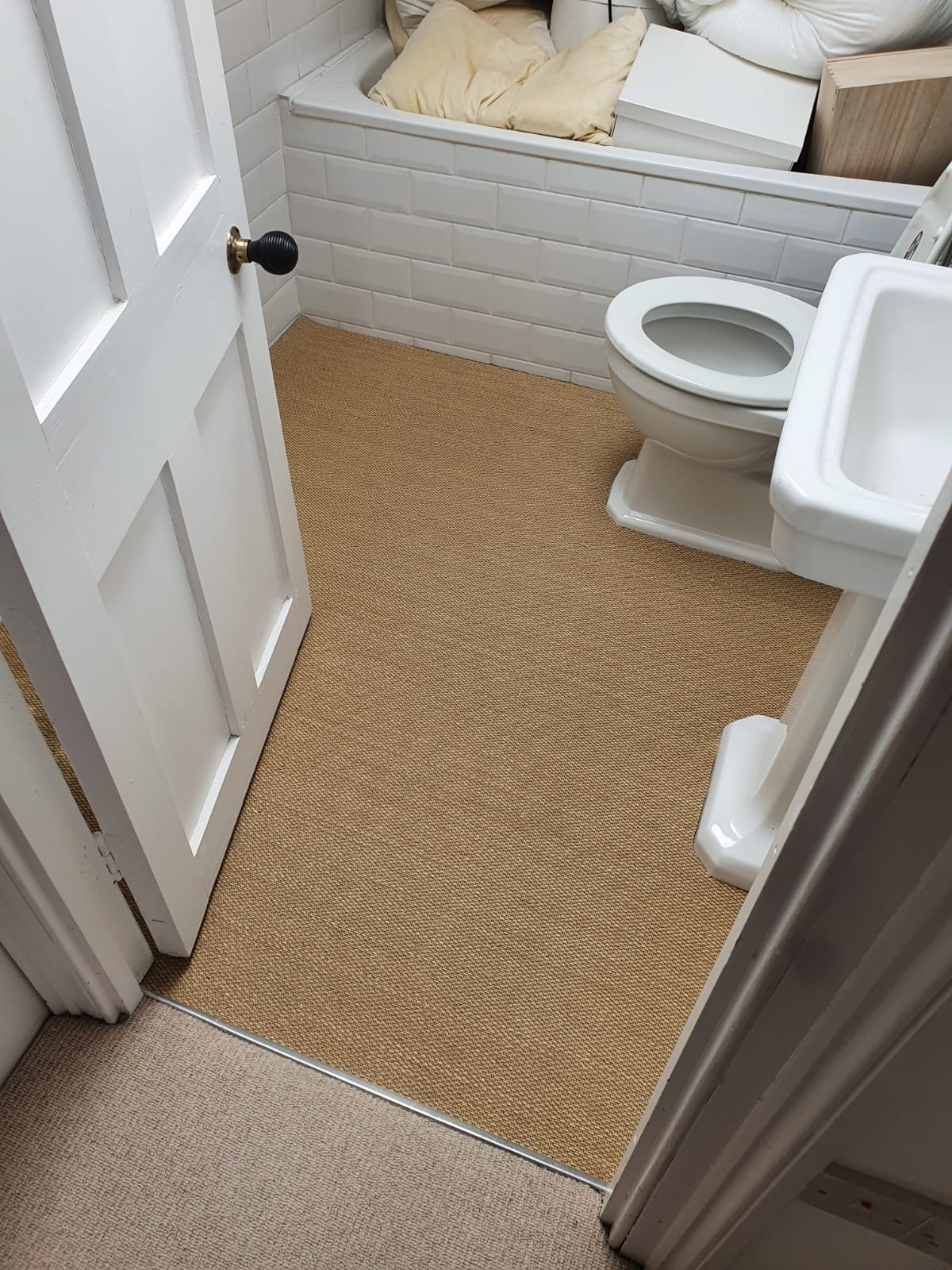 Clarendon Carpets Harrow Beige Carpet in Chelsea 1