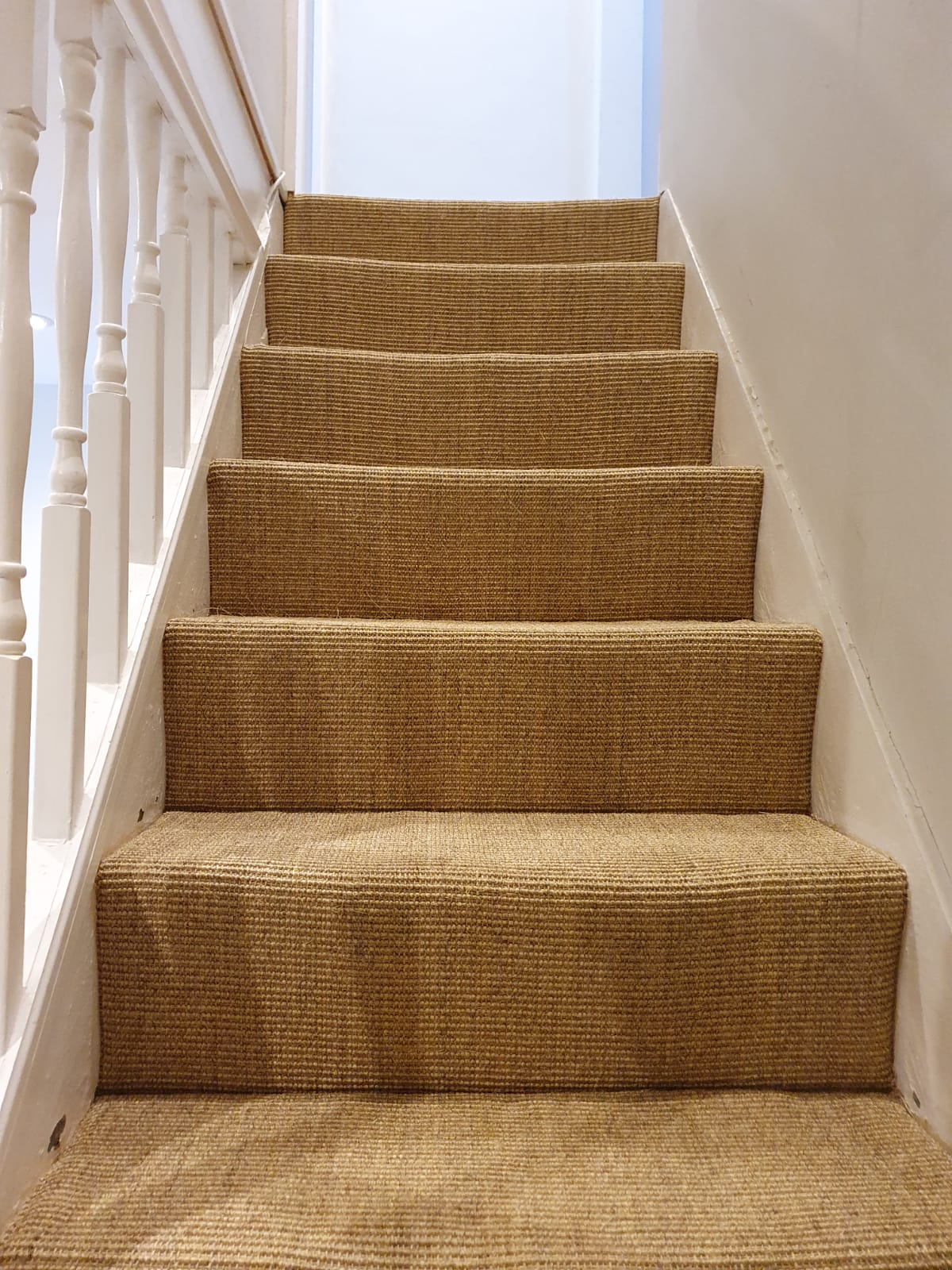 Sisal Carpet to Stairs in Farringdon 2