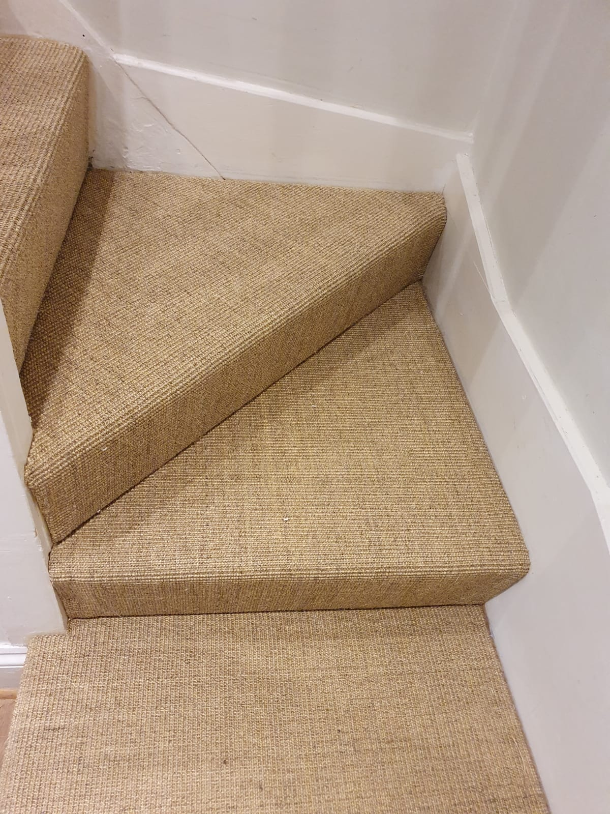 Sisal Carpet to Stairs in Farringdon 3