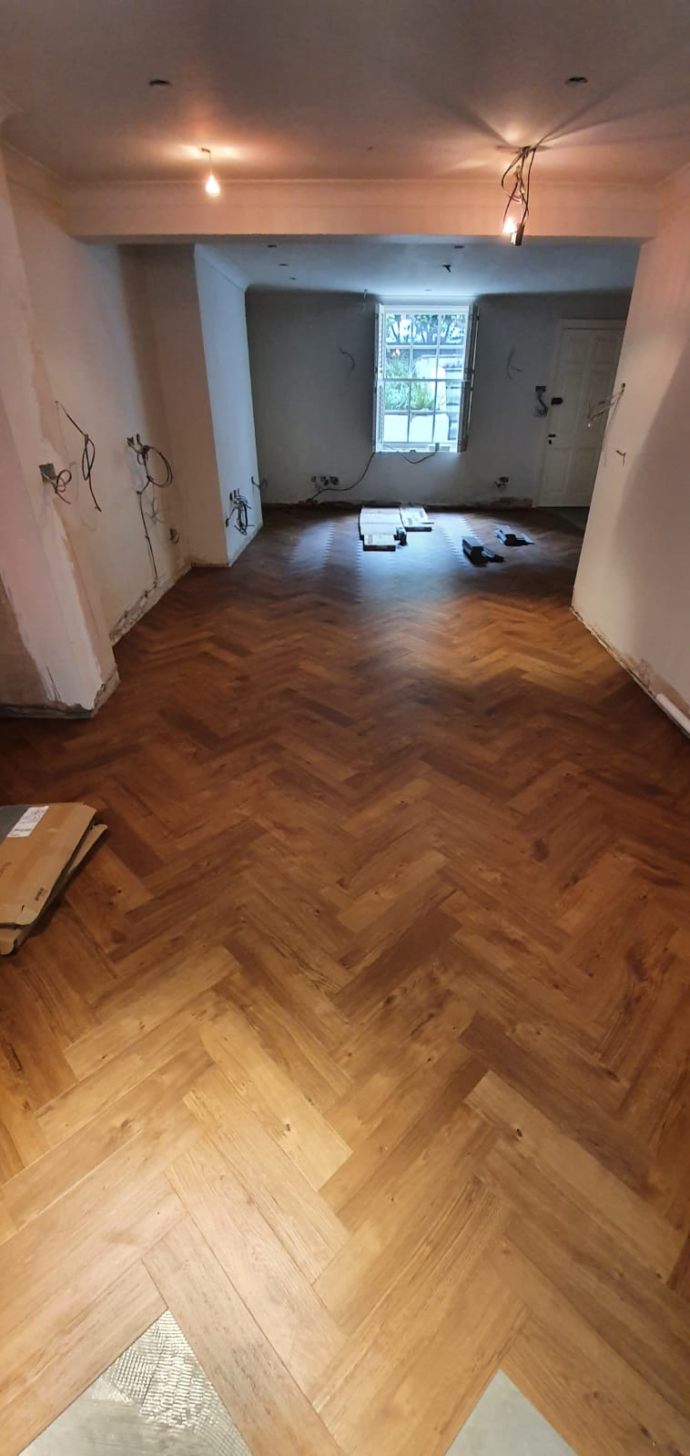 Amtico Spacia Royal Oak in Parquet Installation in Knightsbridge 2