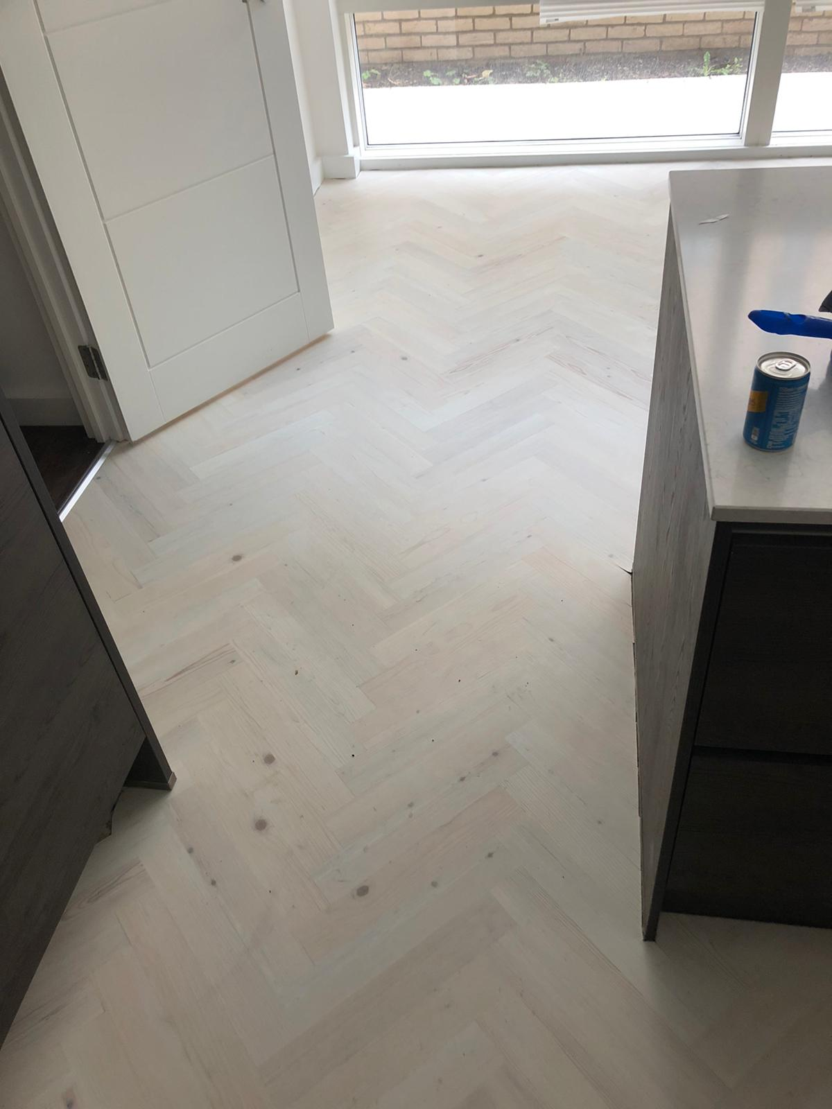 Karndean Knight Tile Washed Scand Prime Herringbone in Chelsea 1