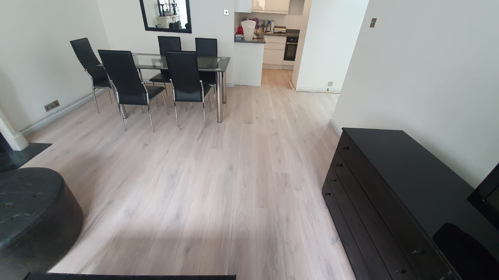Staki Oak & White Brushed Oil Wood Flooring 1