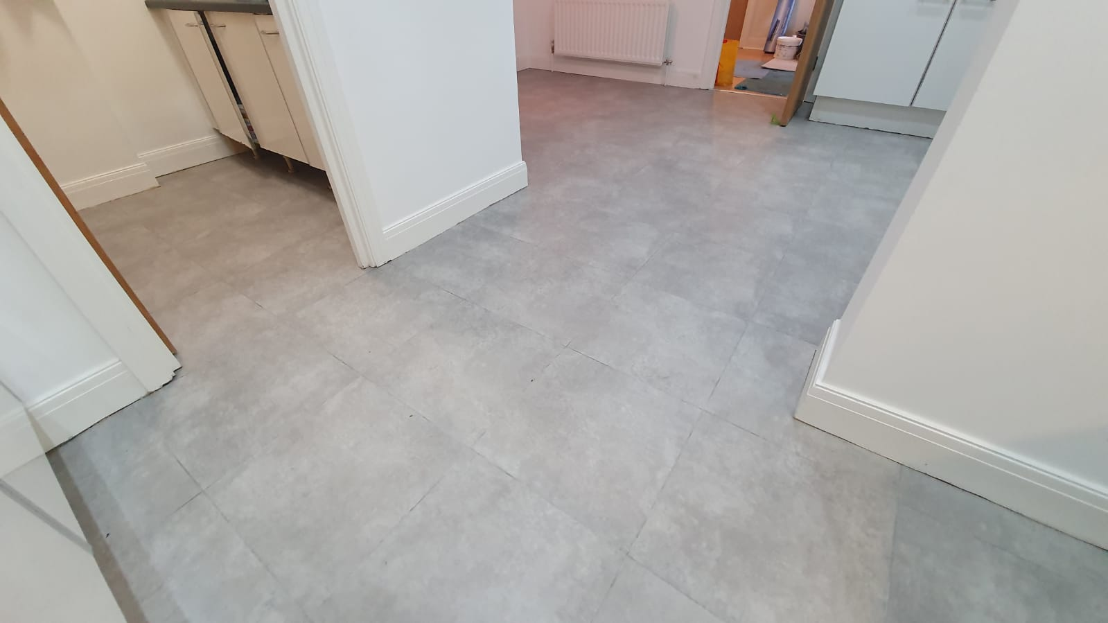 Amtico Spacia Cement with Worn Concrete Stripping in Paddington 1
