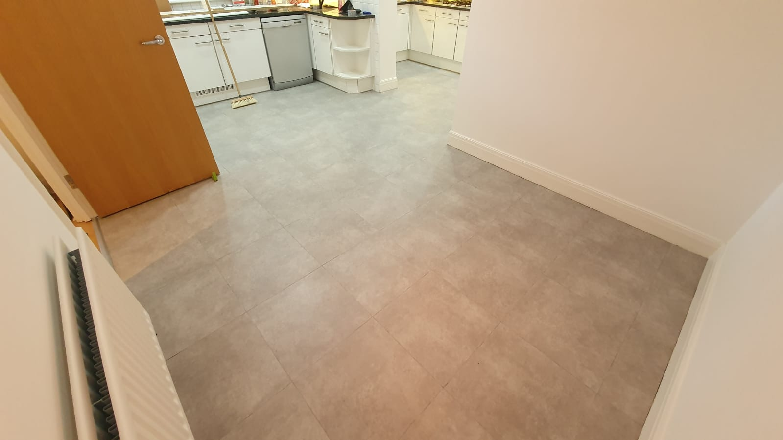 Amtico Spacia Cement with Worn Concrete Stripping in Paddington 3