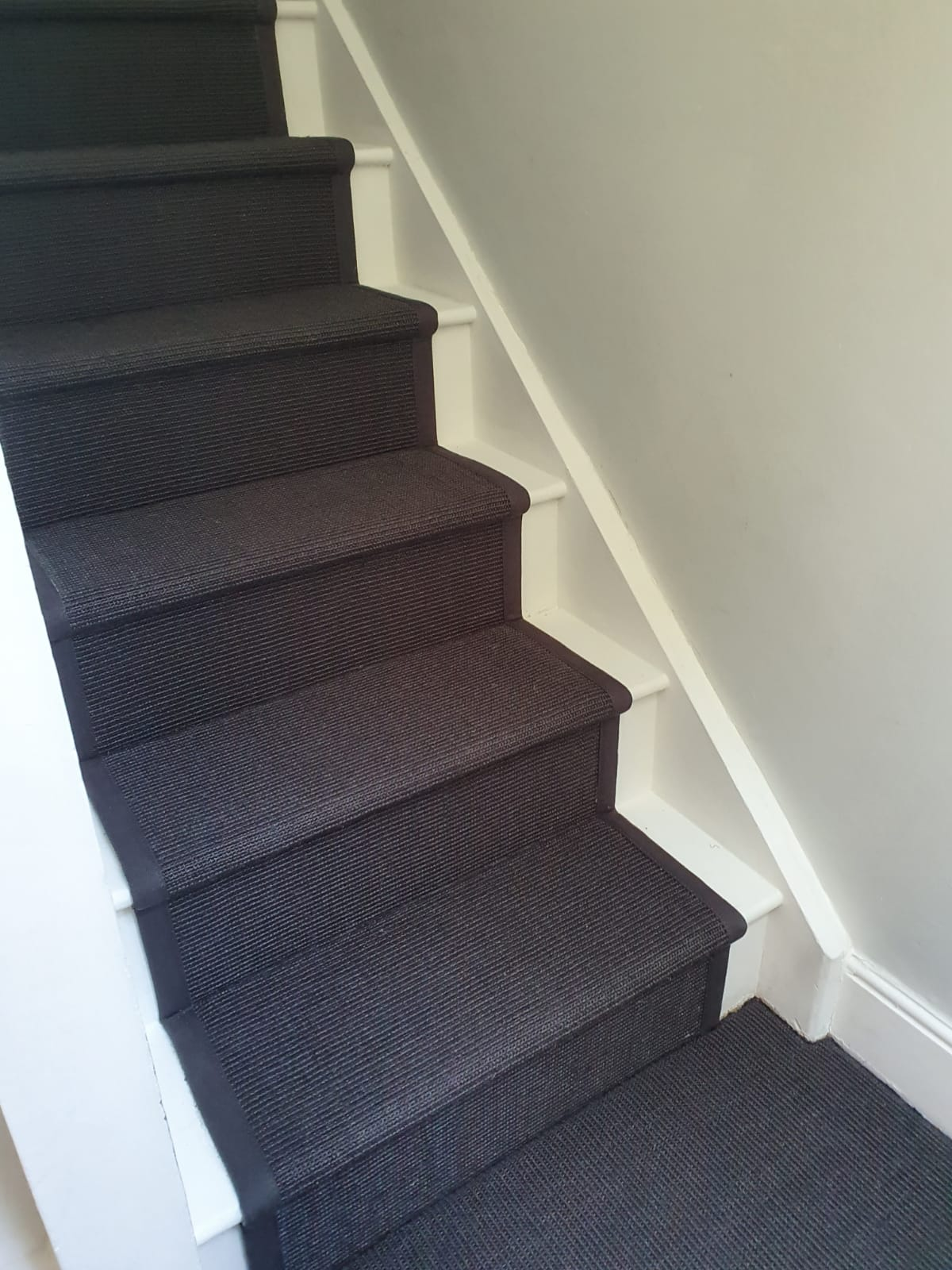Crucial Trading Sisal Small Boucle Accents Black C714 Carpet in Fulham 1